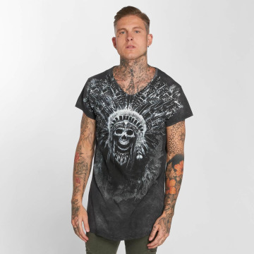 trueprodigy Camiseta Skull Indian gris