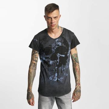 trueprodigy T-Shirt Paint Skull bleu