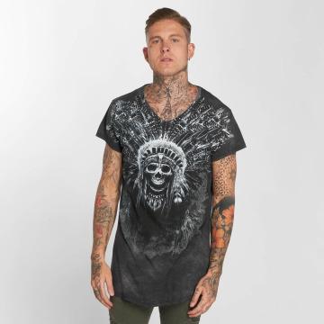 trueprodigy T-Shirt Skull Indian grau