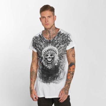 trueprodigy T-skjorter Skull Indian hvit