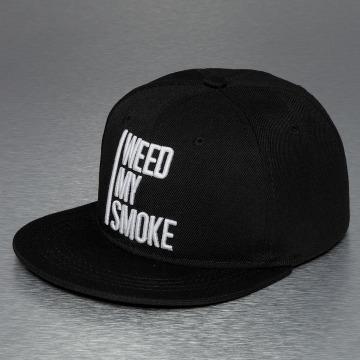 TrueSpin Snapback Cap Weed My Smoke schwarz