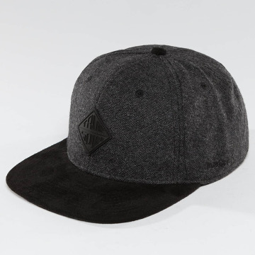TrueSpin Snapback Caps Rubber Taper šedá