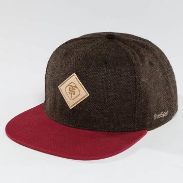 TrueSpin Snapback Caps Chevron brun