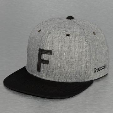 TrueSpin Snapback Caps ABC-F Wool grå