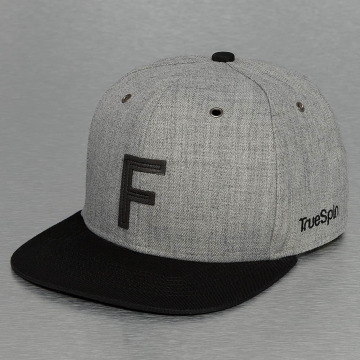TrueSpin Snapback Caps ABC-F Wool szary