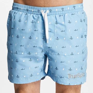 TrueSpin Swim shorts Underwater Print blue