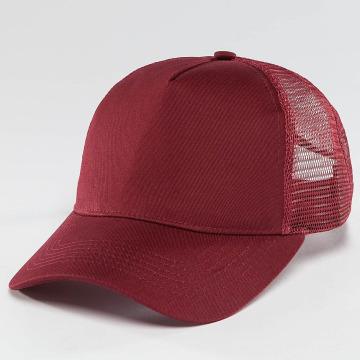 TrueSpin Truckerkeps Blank Round Visor röd
