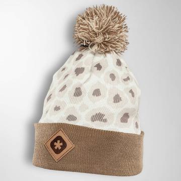 TrueSpin Wintermütze Cheetah beige