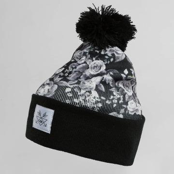 TrueSpin Wintermütze Roses schwarz