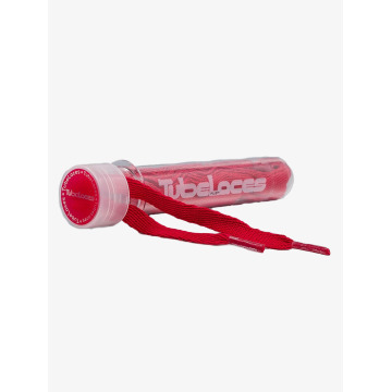 Tubelaces Cordón deloszapatos Flat Laces 140cm rojo