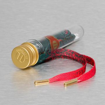 Tubelaces Kengännauha Flat Splatter punainen