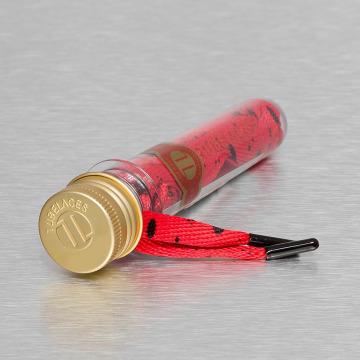 Tubelaces Kengännauhat Flat Splatter II punainen