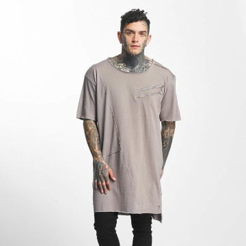 Tuffskull Tall Tees Zipper grigio