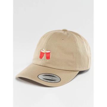 TurnUP Snapback Caps Wasted hnědožlutý