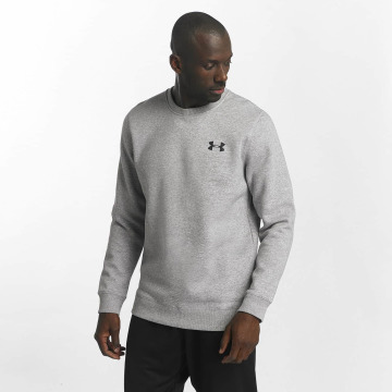 Under Armour Pullover Rival Solid Fitted grau