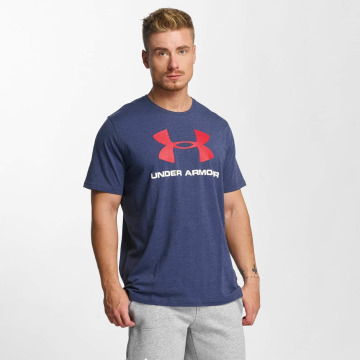 Under Armour t-shirt Charged Cotton blauw