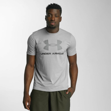 Under Armour T-shirt Charged Cotton Sportstyle Logo grå