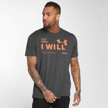 Under Armour T-shirt I Will grigio
