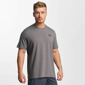 Under Armour T-Shirt Charged Cotton Left Chest Lockup gris