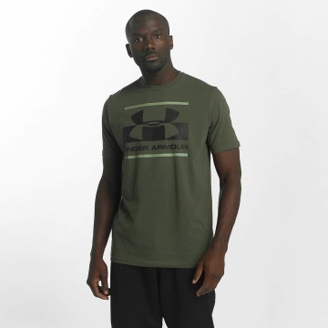Under Armour T-shirt Blocked Sportstyle verde