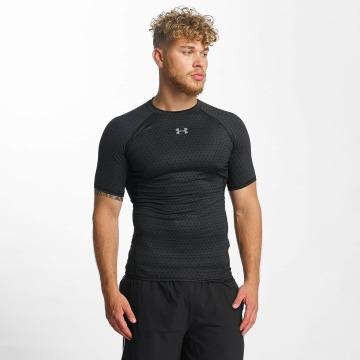 Under Armour t-shirt Heatgear Printed Shortsleeve Compression zwart
