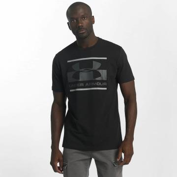 Under Armour t-shirt Blocked Sportstyle zwart