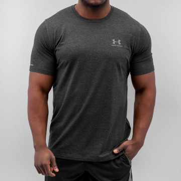 Under Armour T-Shirty Charged Cotton Left Chest Lockup czarny