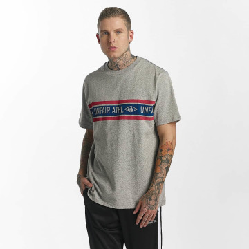 UNFAIR ATHLETICS T-shirt Athl. Striped grå
