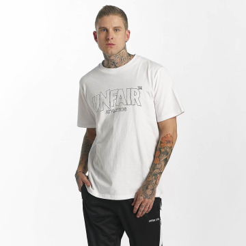 UNFAIR ATHLETICS T-Shirty Classic Label Outlines bialy
