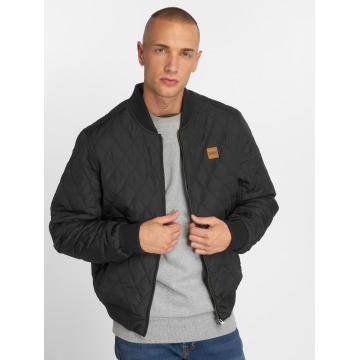 Urban Classics Демисезонная куртка Diamond Quilt Nylon черный