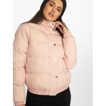 Urban Classics Зимняя куртка Hooded Puffer розовый