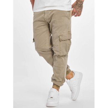 Urban Classics Карго Washed Cargo Twill Jogging бежевый