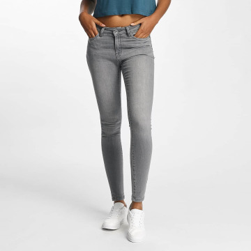 Urban Classics Облегающие джинсы Skinny Denim серый