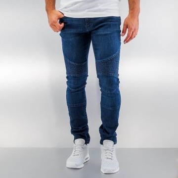 Urban Classics Облегающие джинсы Slim Fit Biker синий