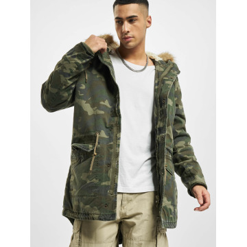 Urban Classics Пальто Garment Washed Camo камуфляж