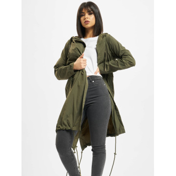 Urban Classics Пальто Asymetric оливковый