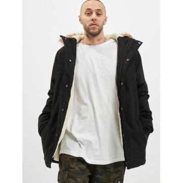 Urban Classics Пальто Heavy Cotton Imitation Fur черный