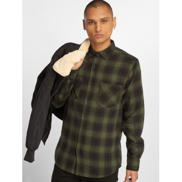 Urban Classics Рубашка Checked Flanell 3 черный