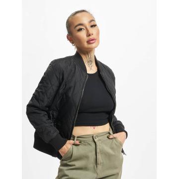Urban Classics Университетская куртка Diamond Quilt черный
