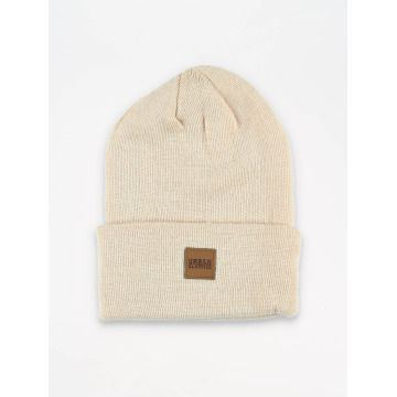 Urban Classics Beanie Leather Patch Long beige