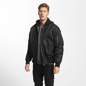 Urban Classics Bomberjack Hooded Oversized zwart