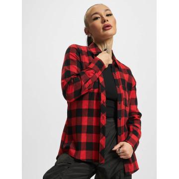 Urban Classics Camicia/Blusa Ladies Turnup Checked Flanell rosso