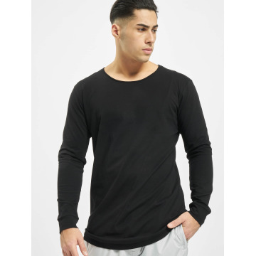 Urban Classics Camiseta de manga larga Long Shaped Fashion negro