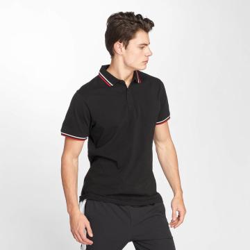 Urban Classics Camiseta polo Double Stripe negro