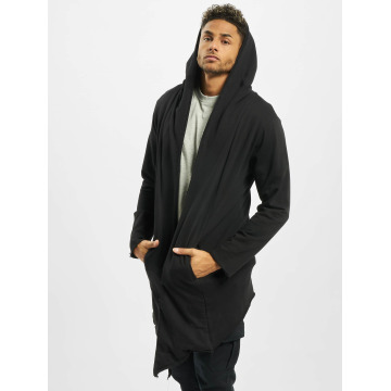 Urban Classics Cardigan Long Hooded Open Edge nero