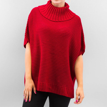 Urban Classics Cardigan Knitted Poncho rouge