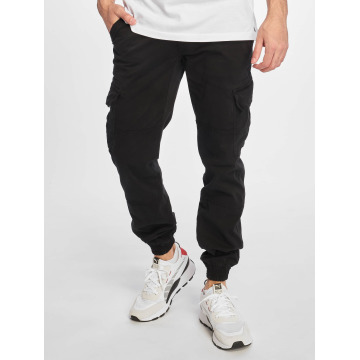 Urban Classics Cargo pants Washed Cargo Twill Jogging čern