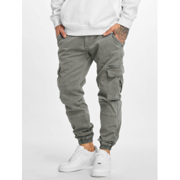 Urban Classics Cargo pants Washed Cargo Twill Jogging grå