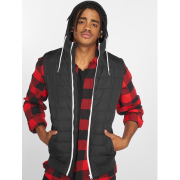 Urban Classics Chaleco Small Bubble Hooded negro