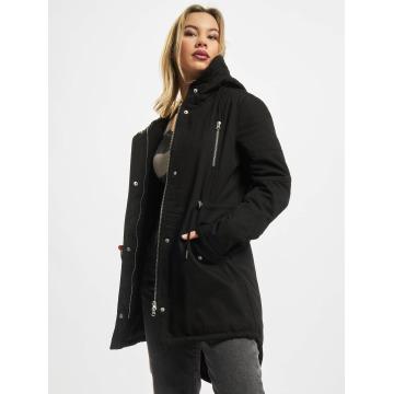 Urban Classics Chaqueta de invierno Ladies Sherpa Lined Cotton negro